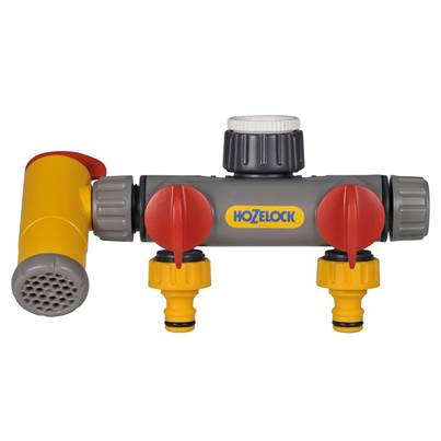 Hozelock Flowmax 3-Way Tap Connector 1/2 - 1in BSP
