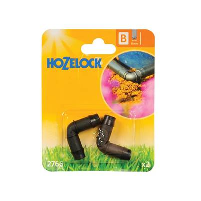 Hozelock Elbow Connector 90 Degree 13mm (2 Pack)