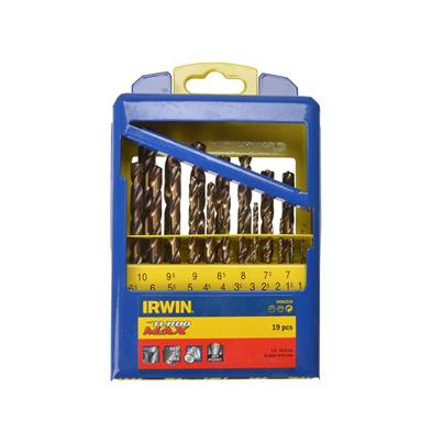 IRWIN Turbo Max HSS Drill Bit Set of 19