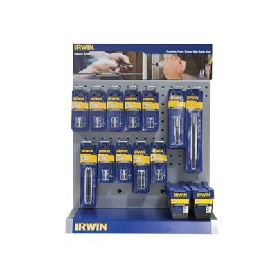 IRWIN Large Impact Screwdriver Bit Counter Top Display