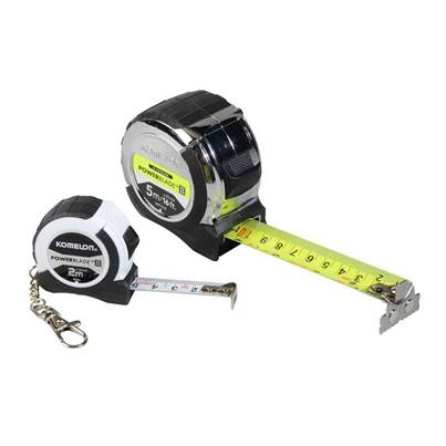 Komelon PowerBlade™ II Pocket Tape 5m/16ft & Pocket Key Ring Tape 2m (Metric Only)