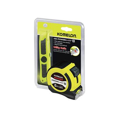 Komelon PowerBlade™ II Pocket Tape 8m/26ft (Width 27mm) with Knife