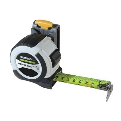 Komelon PowerBlade™ II Pocket Tape 8m/26ft (Width 27mm) with Clip