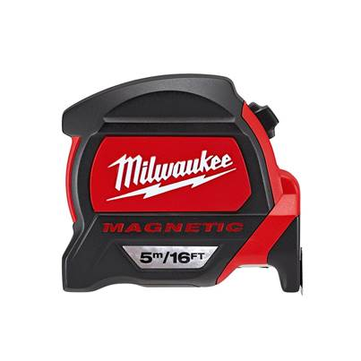 Milwaukee Premium Magnetic Tape Measure 5m/16ft (Width 27mm) Bulk Pack