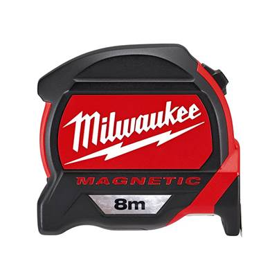 Milwaukee Premium Magnetic Tape 8m (Width 27mm) (Metric Only) Bulk Pack