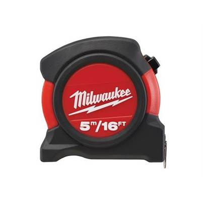 Milwaukee Contractor Pocket Tape 5m/16ft (Width 27mm)
