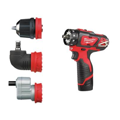 Milwaukee Power Tools M12 BDDX KIT-202C Removeable Chuck Drill Driver 12V 2 x 2.0Ah Li-Ion