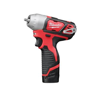 Milwaukee Power Tools M12 BIW14-202C Sub Compact 1/4in Impact Wrench 12V 2 x 2.0Ah Li-Ion