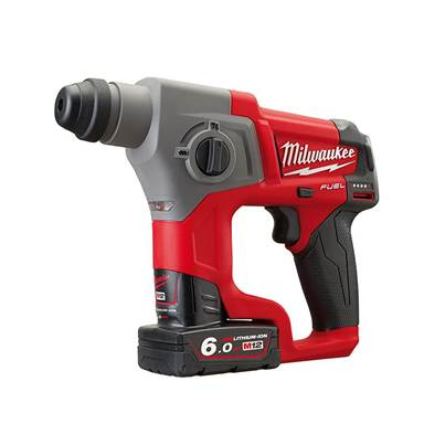 Milwaukee Power Tools M12 CH-602X Fuel™ SDS Hammer 12V 2 x 6.0Ah Li-Ion