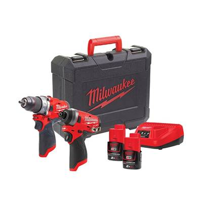 Milwaukee Power Tools M12 FPP2A-202C FUEL™ Twin Pack 12V 2 x 2.0Ah Li-ion