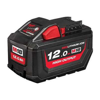 Milwaukee Power Tools M18 HB12 HIGH OUTPUT™ Slide Battery Pack 18V 12.0Ah Li-ion
