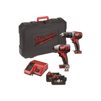 Milwaukee Power Tools M18 BPP2C-402 Twin Pack 18V 2 x 4.0Ah Li Ion
