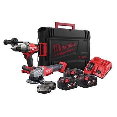 Milwaukee Power Tools M18 FPP2AA-503X FUEL™ Twin Pack 3 x 5.0Ah Li-ion