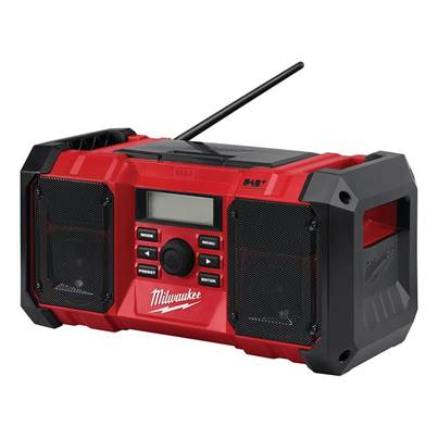 Milwaukee Power Tools M18 JSRDAB-0 DAB Digital Jobsite Radio 18V Bare Unit