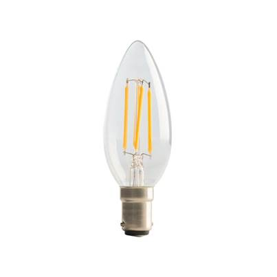 Masterplug LED Candle Clear Filament Bulb Non-Dimmable