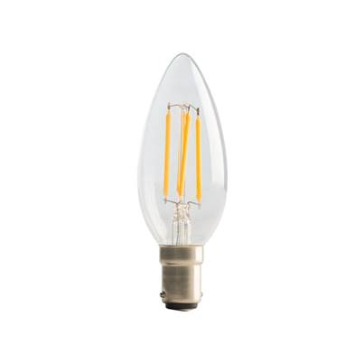 Masterplug LED Candle Clear Filament Dimmable Bulb