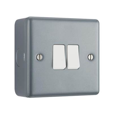 Masterplug Metal Clad Light Switch
