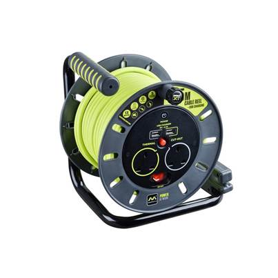 Masterplug PRO-XT Open Cable Reel 25m 13A 2 Socket & 2 USB