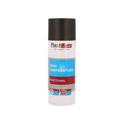 PlastiKote Trade High Temperature Spray Paint Black 400ml