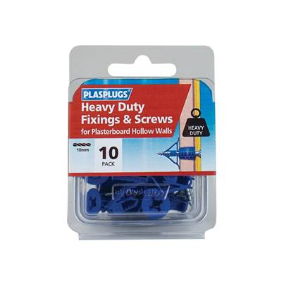 Plasplugs Heavy-Duty Fixings & Screws (Pack 10)