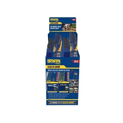 IRWIN Quick-Grip 12 & 18in One Handed Bar Clamp Display With Accessories