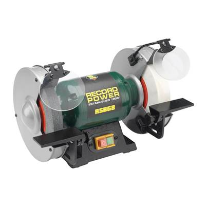 Record Power RSBG6 150mm (6in) Bench Grinder 350W 240V