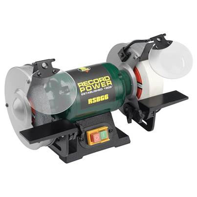 Record Power RSBG8 200mm (8in) Bench Grinder 400W 240V