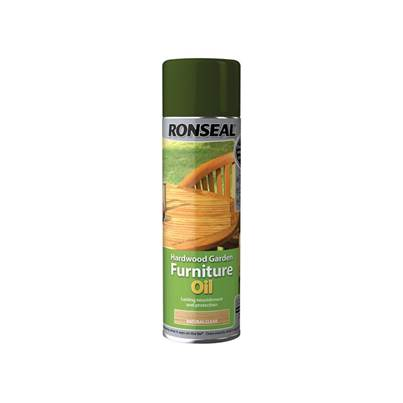 Ronseal Hardwood Garden Furniture Oil Natural Clear Aerosol 500ml