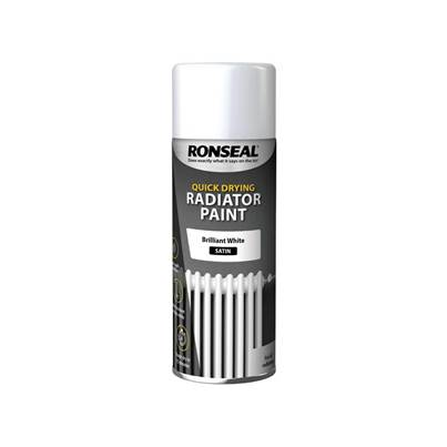 Ronseal One Coat Radiator Spray Paint Satin White 400ml