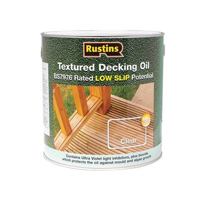 Rustins Textured Decking Oil Clear 2.5 Litre