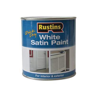 Rustins Quick Dry White Satin Paint