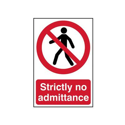 Scan Strictly No Admittance - PVC 200 x 300mm