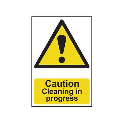 Scan Caution Cleaning In Progress - PVC 200 x 300mm