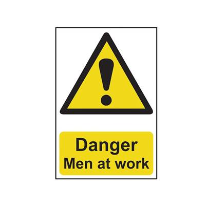 Scan Danger Men At Work - PVC 200 x 300mm