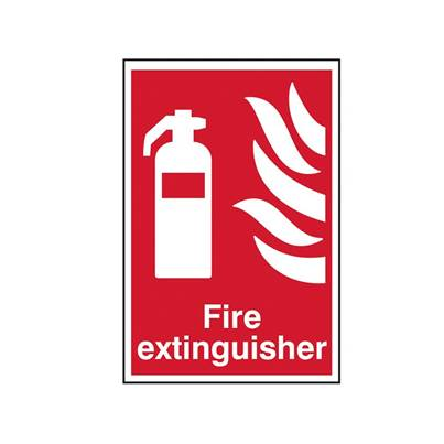 Scan Fire Extinguisher - PVC 200 x 300mm