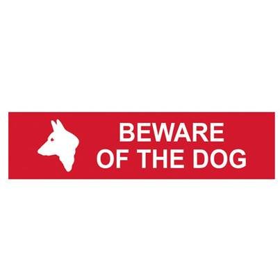 Scan Beware Of The Dog - PVC 200 x 50mm