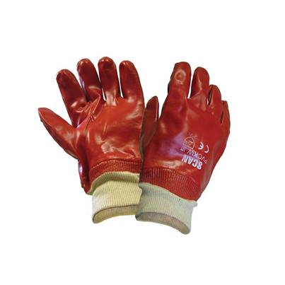 Scan PVC Knitwrist Gloves - L (Size 9)