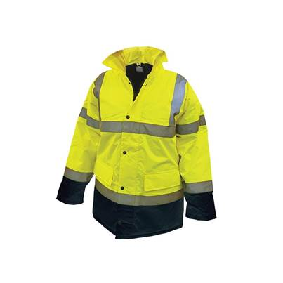 Scan Hi-Vis Yellow Black Motorway Jacket
