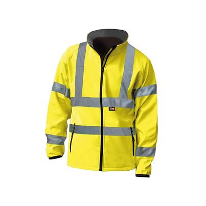 Scan Hi-Vis Yellow Soft Shell Jacket