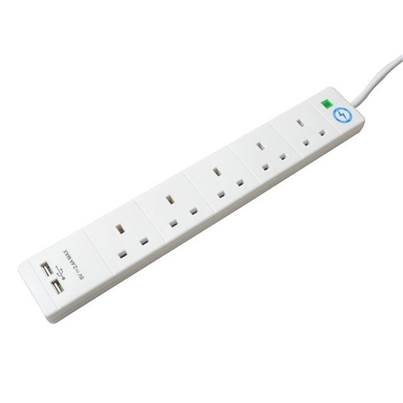 SMJ Surge Protection Extension Lead with USB
