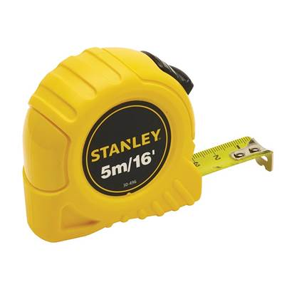 Stanley Tools Pocket Tape 5m/16ft (Width 19mm)