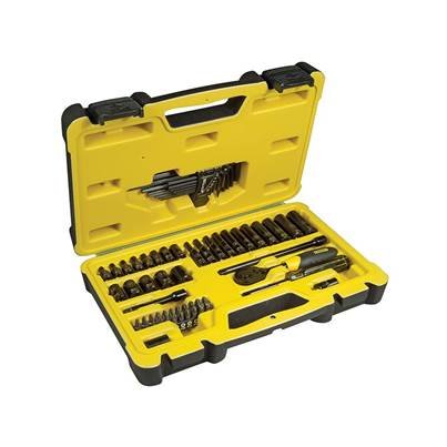 Stanley Tools Tech 3 Socket Set of 66 1/4in Drive