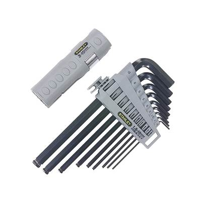 Stanley Tools Hexagon Grip Key Set of 9 Metric (1.5-10mm)