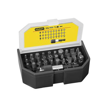 Stanley Tools Bit Set & Holder, 31 Piece