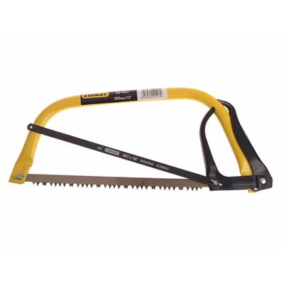 Stanley Tools Hack Bowsaw 300mm (12in) Plus Extra Hacksaw Blade