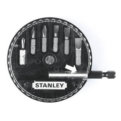 Stanley Tools Insert Bit Set Phillips/Slotted 7 Piece