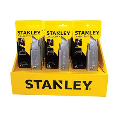 Stanley Tools 99E Counter Display of 12 Knives