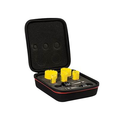 Starrett KDC05021 Deep Cut Bi-Metal Electrician's Holesaw Kit, 7 Piece