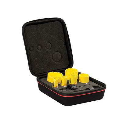 Starrett KDC07021 Deep Cut Bi-Metal Plumber's Holesaw Kit, 9 Piece