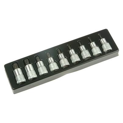 Stahlwille Torx Socket Set of 9 1/2in Drive